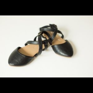 Old navy baby girl black flats size 5